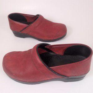 Dankso 41 Oxblood Oiled Leather Clogs Slip On shoe